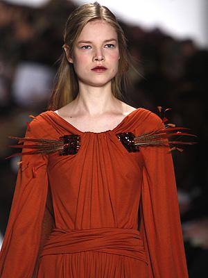 Carolina Herrera fashion show model