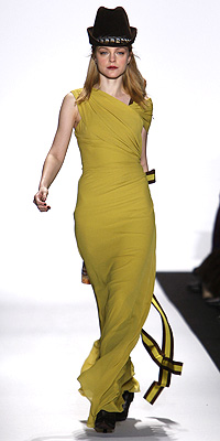 Carolina Herrera fashion show model
