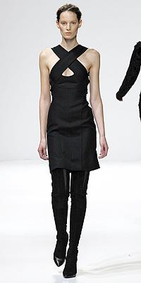 Narciso Rodriguez fashion show model