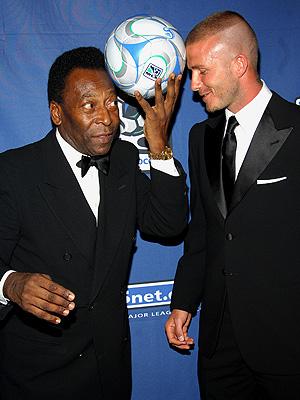 David Beckham y Pele