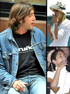 principal Fumar: Javier Bardem, Uma Thurman y Barbara Mori