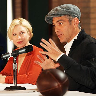 George Clooney y Renee Zellweger