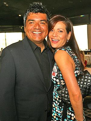 George Lopez y Constance Marie