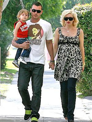 Gwen Stefani y Gavin Rossdale con Kingston