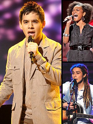principal Idol: Archuleta, Syesha y Jason Castro