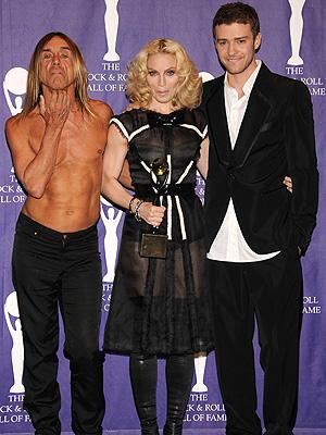 Iggy Pop, Madonna y Justin Timberlake
