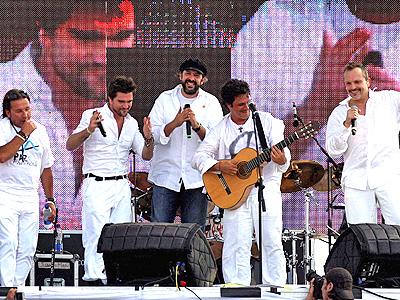 Ricardo Montaner, Juanes, Juan Luis Guerra, Alejandro Sanz y Miguel Bose
