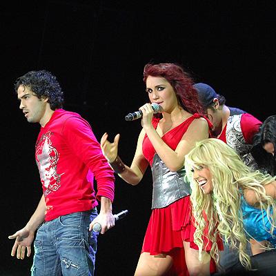 Alfonso Herrera, Dulce Maria y Anahi de RBD