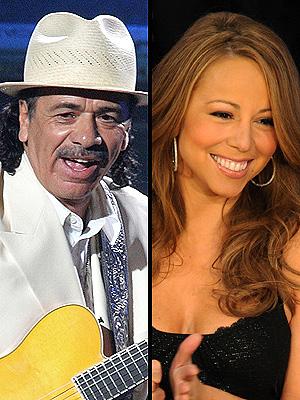 Carlos Santana y Mariah Carey