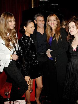 Elle MacPhearson, George Clooney, Thandie Newton