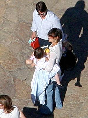 Tom Cruise y Katie Holmes con Suri Cruise