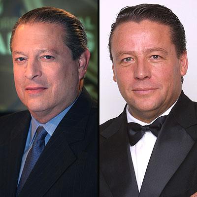 Al Gore y Alfredo Adame