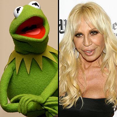 Kermit y Donatella Versace