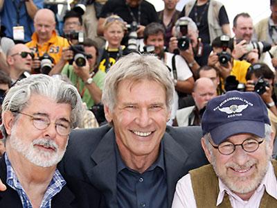 George Lucas, Harrison Ford y Steven Spielberg