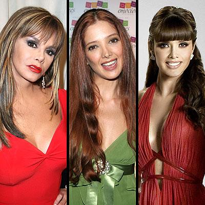 Lucia Mendez, Adela Noriega y Marlene Favela
