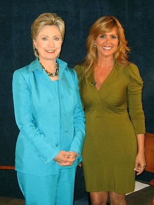 Hillary Clinton y María Celeste Arrarás
