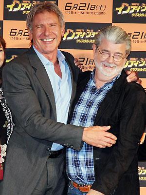 Harrison Ford y George Lucas
