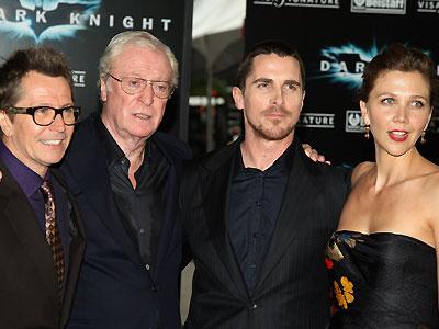 Gary Oldman, Machael Caine, Christian Bale, Maggie Gyllenhaal