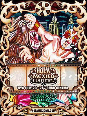"Afiche del festival ""Hola México"""