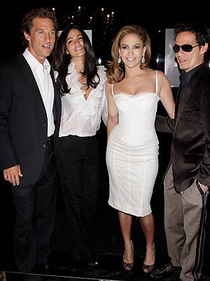Matthew McConaughey, Camila Alves, Jennifer López, Marc Anthony