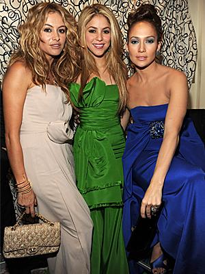 Paulina Rubio, Shakira, Jennifer López, Gala Inaugural Latina