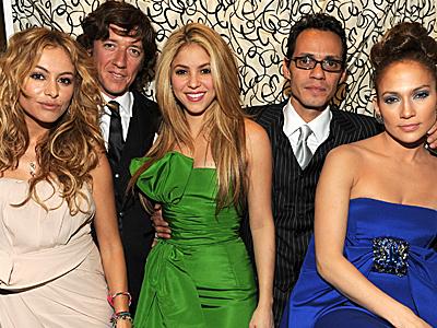 Paulina Rubio, Colate, Shakira, Marc Anthony, Jennifer López, Gala Inaugural Latina