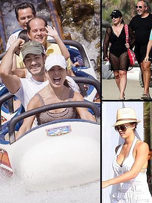 Kate Del Castillo, Jessica Alba, Gloria Estefan, Emilio Estefan, Famosos en vacaciones