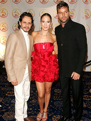 Marc Anthony, Jennifer López y Ricky Martin