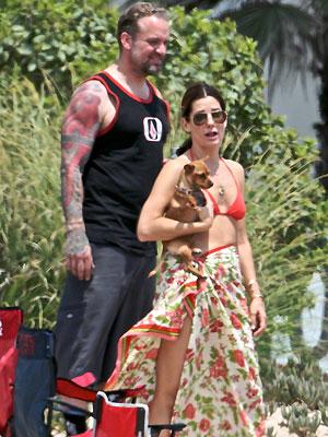 Sandra Bullock, Vacaciones con los famosos