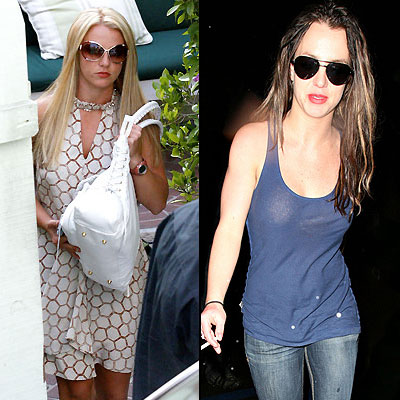 Britney Spears, Rubias o morenas