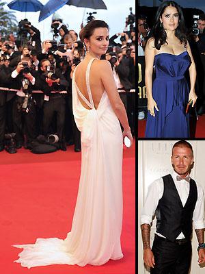 Penélope Cruz, David Beckham, Salma Hayek, Mejor y peor vestidos del 20008