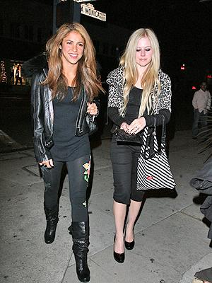 Shakira con Avril Lavigne