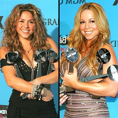 Shakira y Mariah Carey
