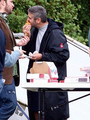 George Clooney, EN EL SET