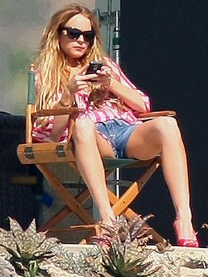 Lindsay Lohan, EN EL SET