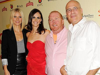 Gwyneth Paltrow, Claudia Bassols, Mario Batali, Mark Bitman