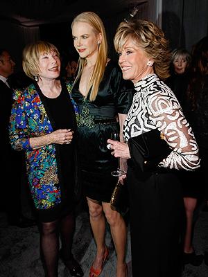 Shirley McLane, Nicole Kidman, Jane Fonda