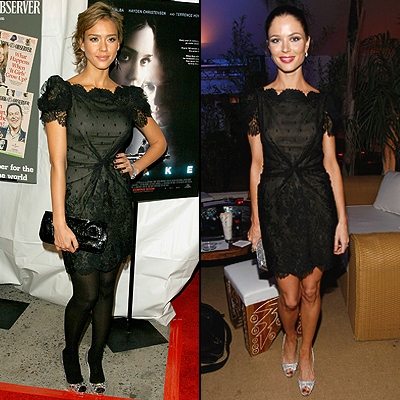 Jessica Alba, Georgina Chapman, twins