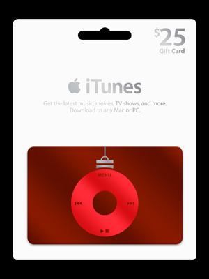 iTunes gift card, REGALOS