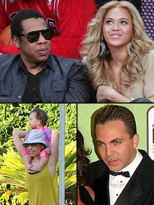 Principal Beyoncé, Jay-Z, Thalía, Cristian Castro, Nombres raros 2012