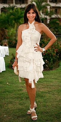 Giselle Blondet, boda