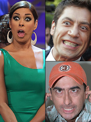 Galilea Montijo, Javier Bardem, Adal Ramones