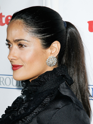 Salma Hayek, Holiday Hairstyles