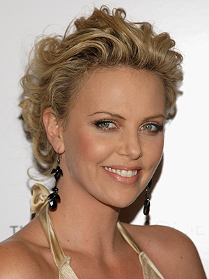Charlize Theron, Holiday Hairstyles