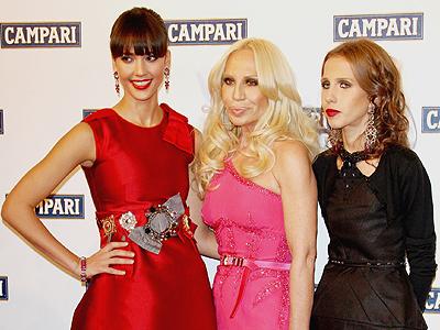 Jessica Alba, Donatella Versace, Allegra Beck Versace