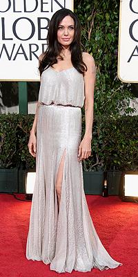 Angelina Jolie, Golden Globes mal vestidos