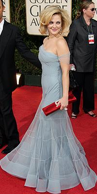 Drew Barrymore, Golden Globes mal vestidos