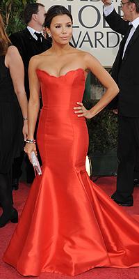 Eva Longoria, Golden Globes bien vestidos