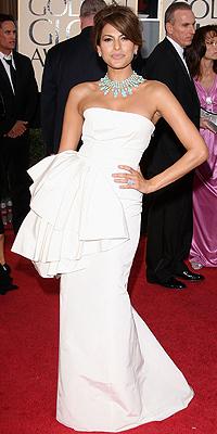 Eva Mendes, Golden Globes bien vestidos
