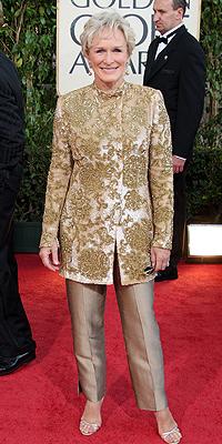 Glenn Close, Golden Globes mal vestidos